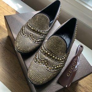 Gucci -Swarovski crystal loafers- size 36 1/2
